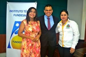 Elsy I.Machacado Sarmiento (Directora Ejecutiva), Gerson Jahir Silva Cadena (Coordinador académico) ,Francy Alvarez (Asesora de despacho de la Secretaría de Educación )