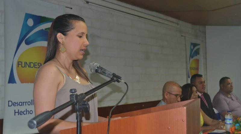 Maestra de ceremonia Judith Zapata