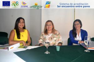 Elsy Isabel Machacado Sarmiento -Directora ejecutiva de Fundesmag, Milena Ossa-Laura Santamaría Representantes de Fundesan