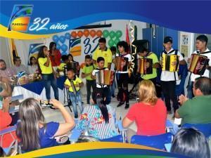 Acto cultural a cargo de la Escuela Vallenata Funesba