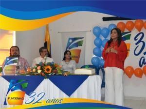 Palabras por parte de la Directora Ejecutiva de Fundesmag Dra.Elsy Isabel Machacado Sarmiento
